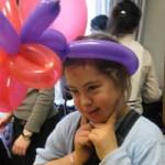 pr Purim girl w balloons