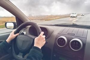 Womn Driving A Car