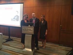 voca-AAC Yonit, Debbie, Dan speaking on Click2Speak at Isaac International conference
