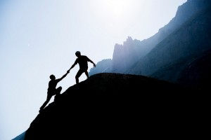 helping hand up mountain