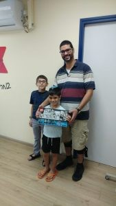 pr canc sup lego- Michelle Justic- Michael w sick father and son