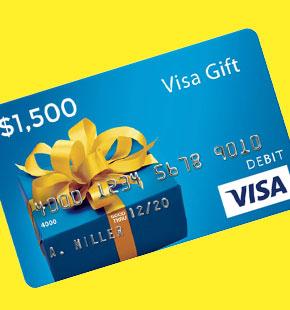 $1500 VISA CARD